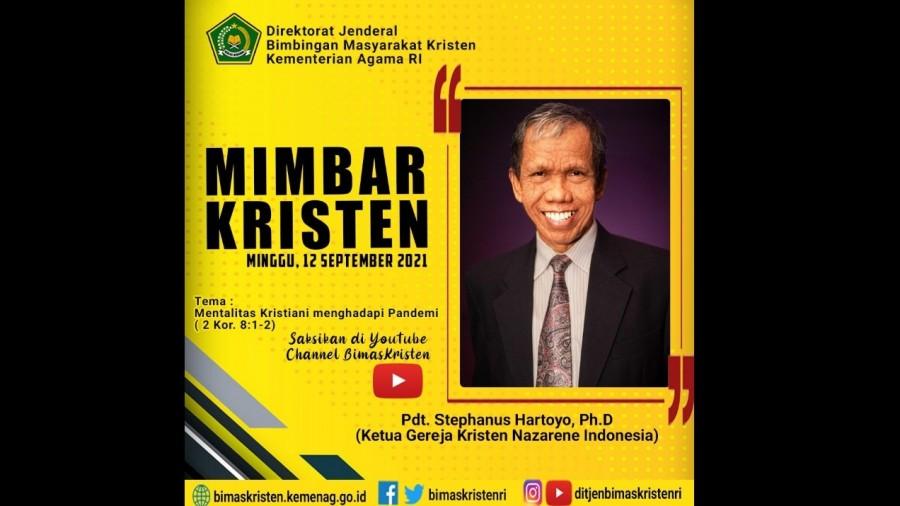 Pdt Stephanus Hartoyo, Ph.D (Ketua Gereja Kristen Nazarene Indonesia)