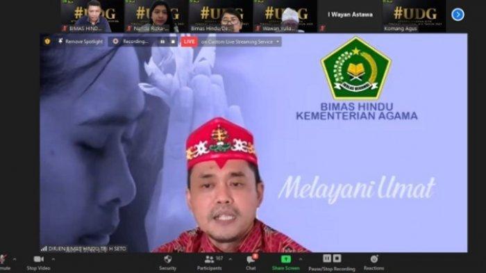 Direktur Jenderal Bimbingan Masyarakat (Dirjen Bimas) Hindu Kemenag Tri Handoko Seto